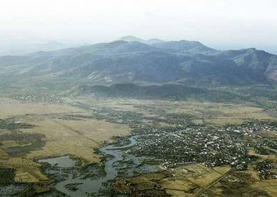 An Aerial View of Baria, Nestled at the Foot of the Long Hai Hills