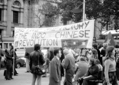 Australian Public Celebrating the Communist Victories in Indo-China