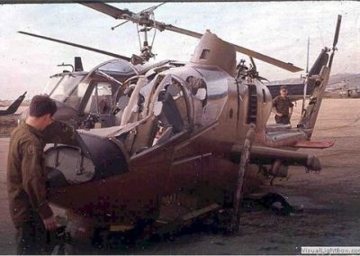 Inspection Of A Crashed Cobra Helicopter