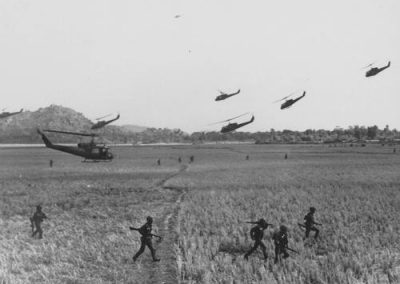 Landing Zone for Flock of Huey Helicopters