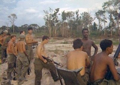 Mad Minute Shooting Drill on LZ Ike, Narcisco Reyes in the Center With M-16
