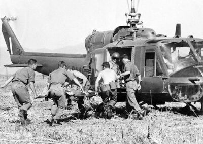 Picking Up Wounded Men Proved to be One of the Primary Functions of 9 Squadron Helicopters in Vietnam