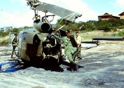 Rod Hiem And A Wrecked Huey