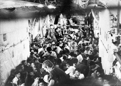 South Vietnamese Refugees Fleeing From the North Vietnamese Army