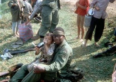 Trooper Shares Some Coka Cola With Vietnamese Child