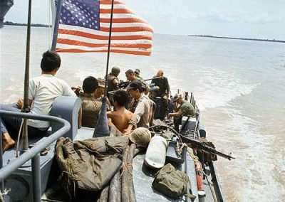 United States Navy Vessel with American, South Vietnamese and Australian Personnel