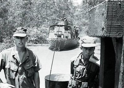 United States and South Vietnamese Naval Personnel Worked Together