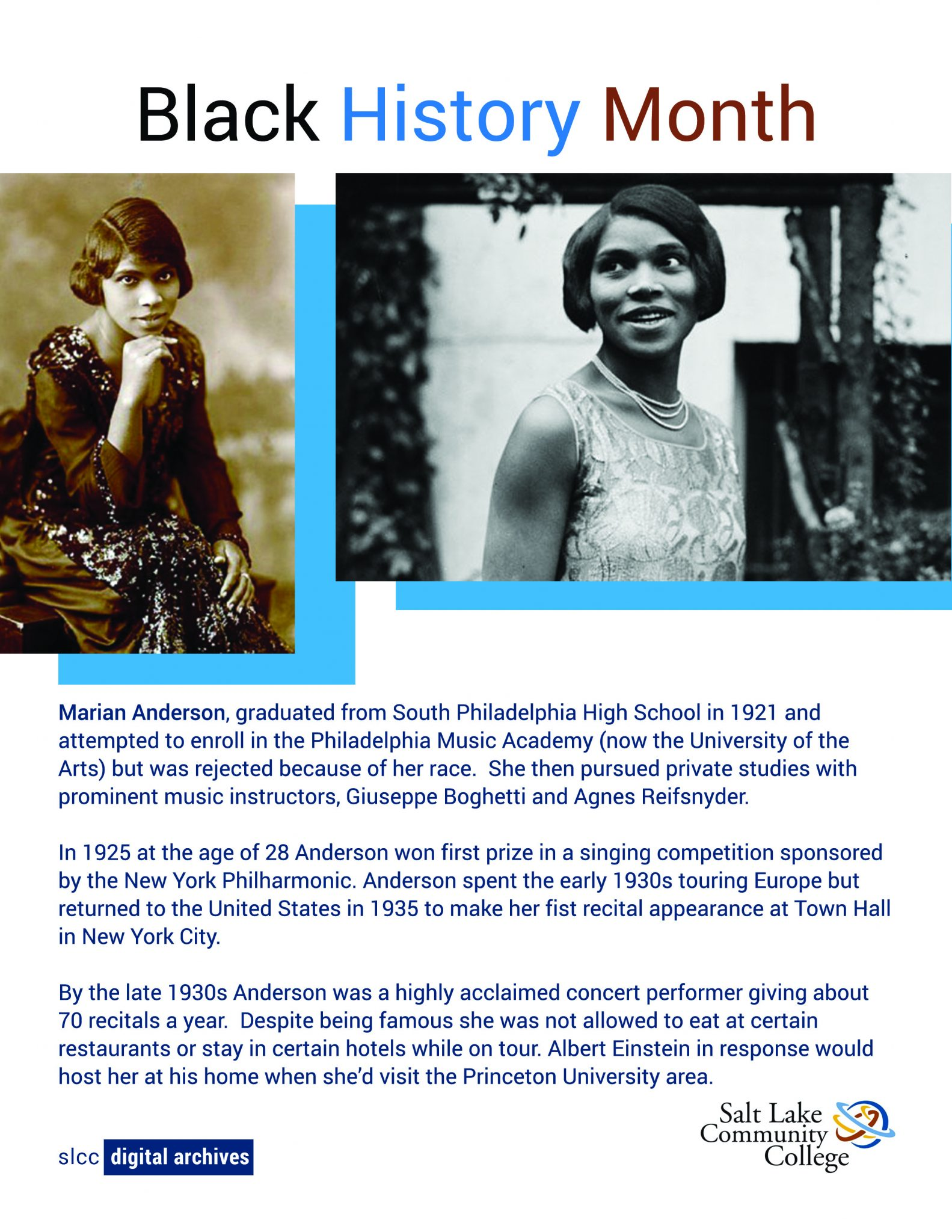 Two Photos of Marian Anderson