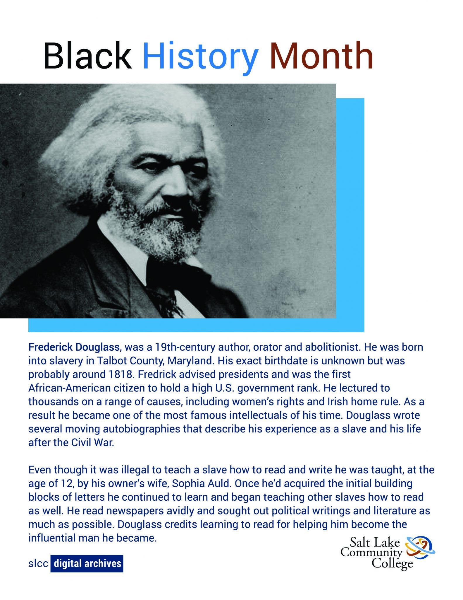 photo of Fredrick Douglass