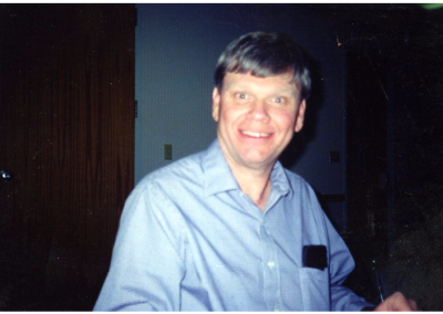 Candid photo of Dr. Dale Smith, Associate Dean, who is very involved with the Eccles Lab School.