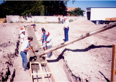 Construction work being done on the Early Childhood Development Lab School.