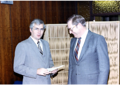 Spencer Eccles (on left) and Orville Carnahan (on right).