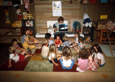Children learning in one of the Early Childhood Development classrooms.