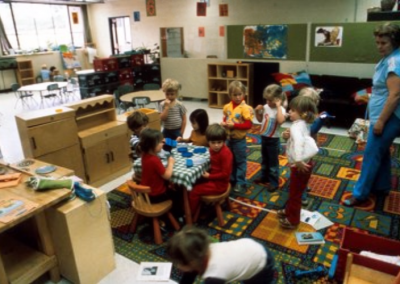 A classroom filled with children for Early Childhood Development Training.