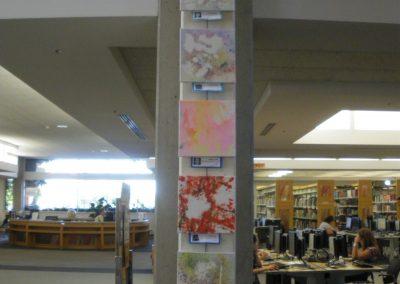 Column with children's art