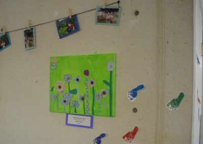 "A Grizzly Bear (one of the classes at Eccles Lab School) group project called ""Purple Flower"""