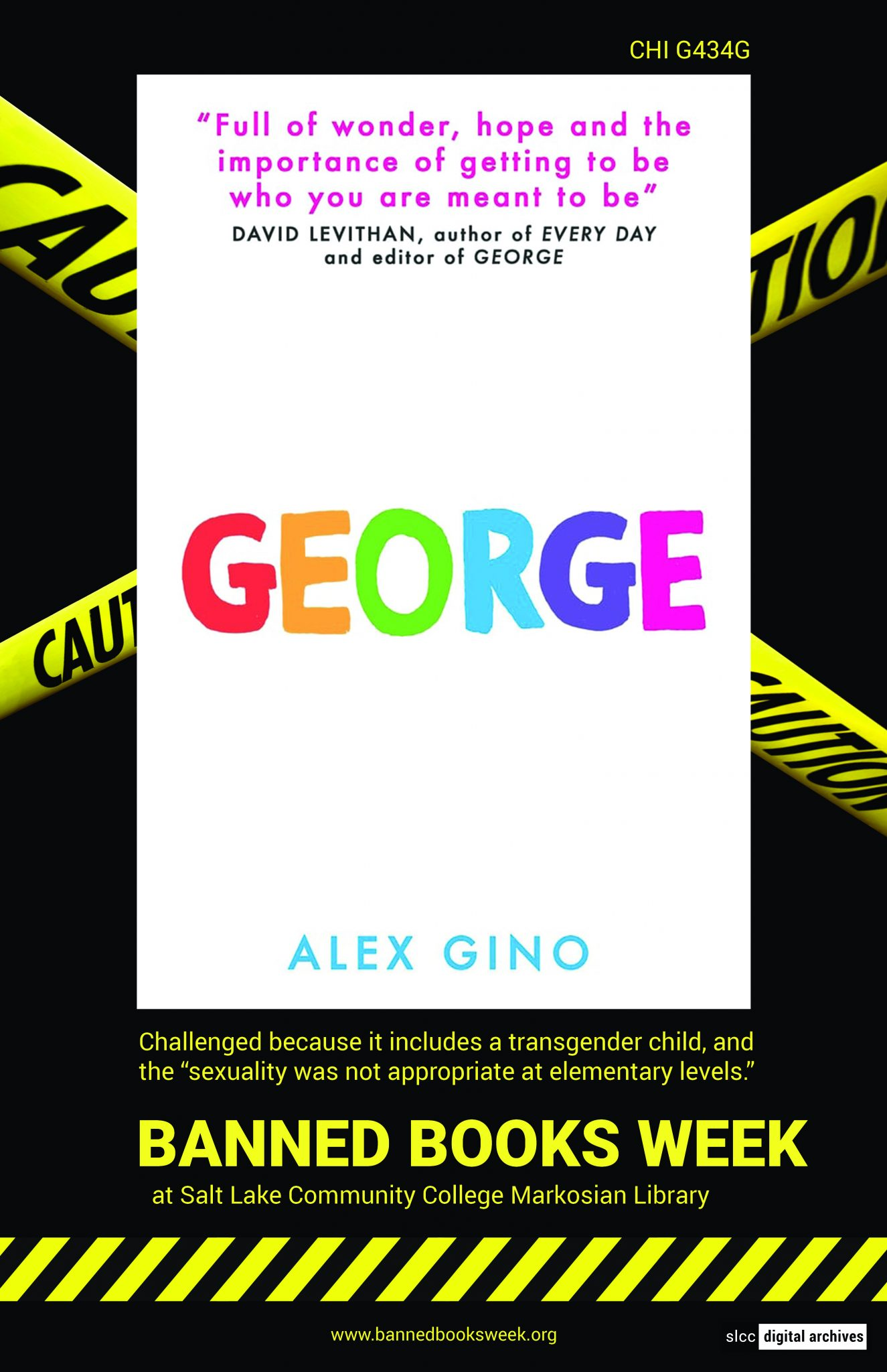 Banned Books Week Poster: George by Alex Gino