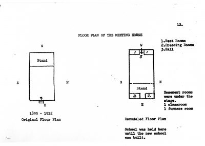 Floor plan Newton Church House 1893-1929