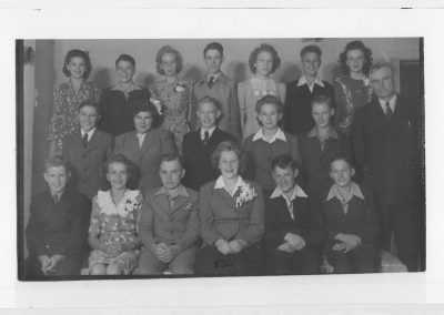 8th Grade Graduation class from the Newton Grade School, 1944
