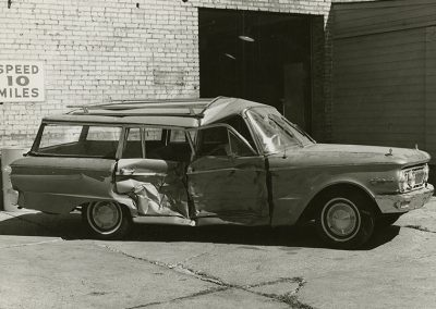 1961 Mercury Comet 4 Door Station Wagon V-8 Automatic Rat Rod Sleeper Custom before repair. Digitization completed with funds from a 2017 USHRAB (Utah State Historical Records Advisory Board) Grant that was awarded to Salt Lake Community College, Library Services. Photo likely taken between 1960-1977.