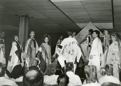 SLCC Performance Of Joseph and the Amazing Technicolor Dreamcoat. Photo likely taken between 1980 and 1990.