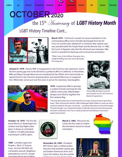 LGBT Timeline, Display Poster, Covering Dates Between 1975 and 1993