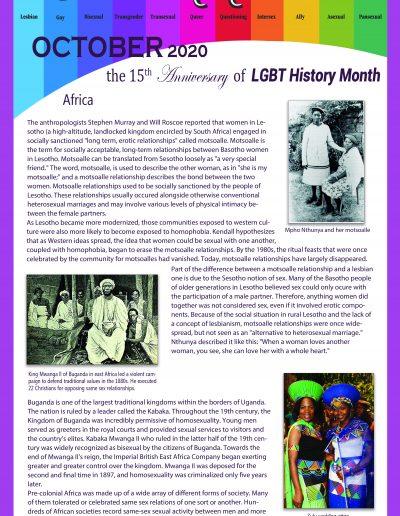 LGBT Timeline, Display Poster, Covering Africa