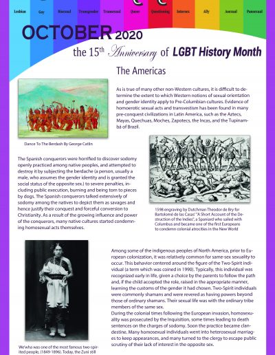 LGBT Timeline, Display Poster, Covering The Americas