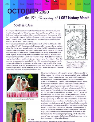 LGBT Timeline, Display Poster, Covering Southeast Asia