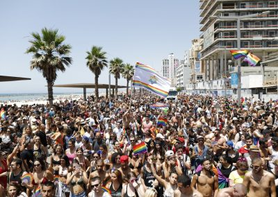 The LGBTQ Pride parade attracts thousands of revelers every year to Tel Aviv