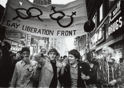 Gay Liberation Front Marches on Times Square, New York City, 1969.