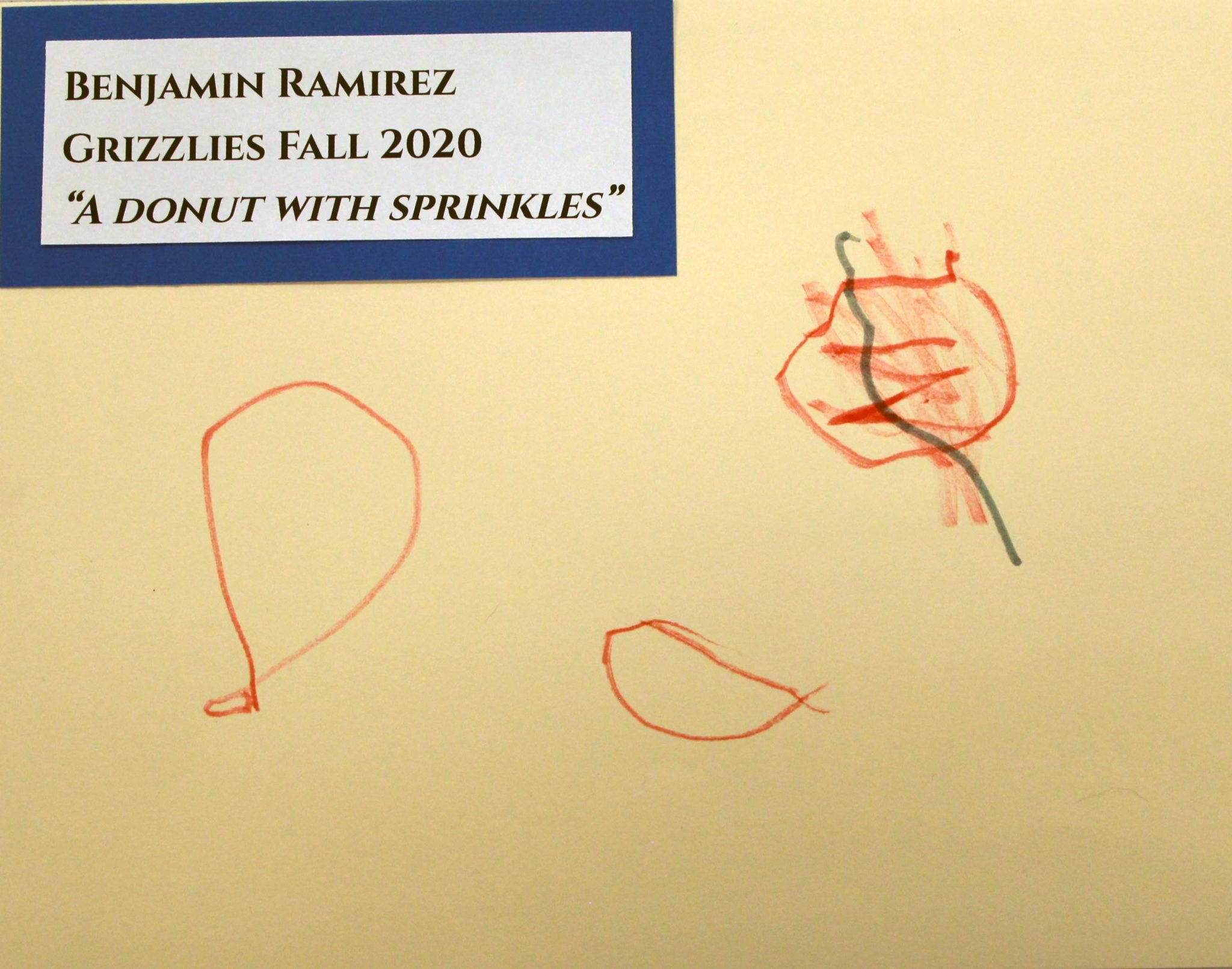 Benjamin Ramirez, of Grizzlies group, drawing, Fall 2020